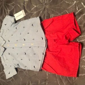 Carters shorts and shirt set size 9 months